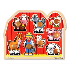 Old Macdonald and Farm Friends Large Peg Puzzle