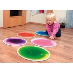 Round Liquid Floor Tiles - Set of 4