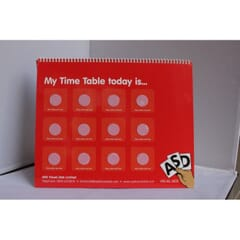 Now and Next Timetable Tent Card