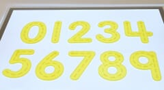 Yellow Silishapes® Trace Numbers - Pk10