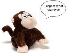 Chatback Roffle - talking Monkey