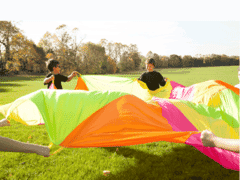 Fluorescent Multicoloured Parachute