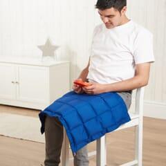 Fire retardant lap pad blue