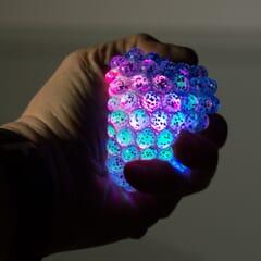 light up squishy mesh ball
