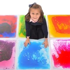 small sensory liquid tiles