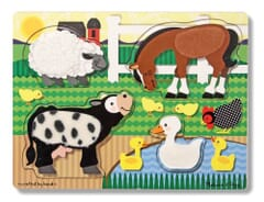 Melissa & Doug Farm Animals Touch & Feel puzzle