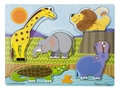 Melissa & Doug Zoo Animals Touch & Feel puzzle