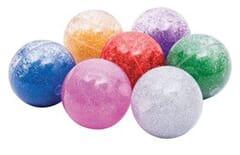 Rainbow glitter balls