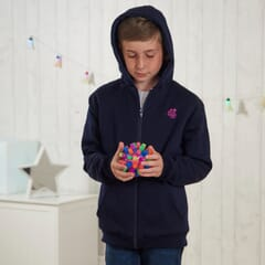 Junior Weighted Hoody - image with hood up