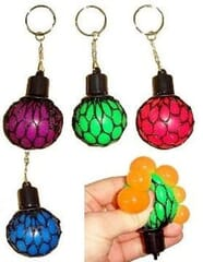 Small Squishy Mesh Ball Fidget Toy Keyring