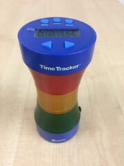 Time tracker visual timer and clock