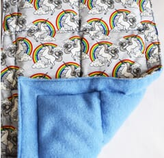 Lap pad 1kg Unicorn / Fleece