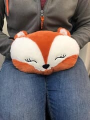 Weighted cuddly hand warmer