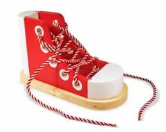 Deluxe Wooden Lacing Shoe